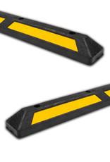 Ri-Traffic | Varkensrug Rubber Zwart, Wielstopper Stootband als Parkeerstop