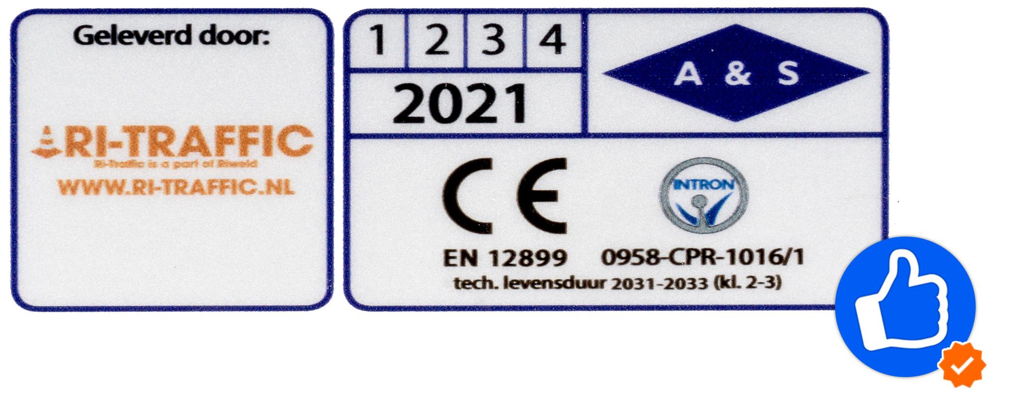 Verkeersbord Keuringssticker / Keurmerk Sticker