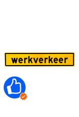 Ri-Traffic   Werkverkeer Magneet Sticker 40cm x 8cm - GEEL - Klasse 3 Folie