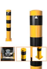 Ri-Traffic | Afzetpaal Staal Geel-Zwart voor Industrie Terrein