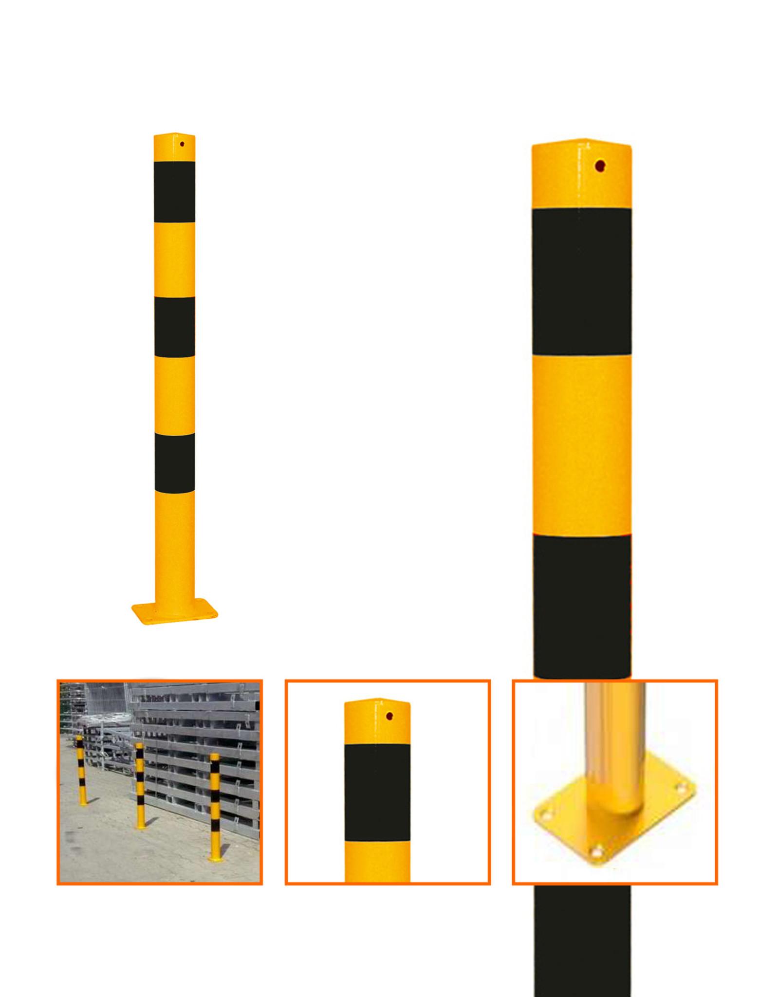 Ri-Traffic | Aanrijdpaal Staal Geel-Zwart voor Industrie Terrein