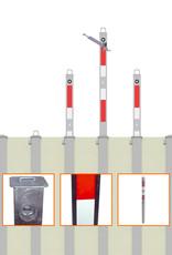 Ri-Traffic | In grond inzinkbare afzetpaal / parkeerpaal met driekantslot