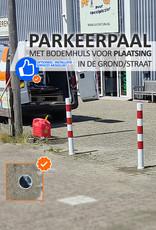 Ri-Traffic | Verwijderbare parkeerpaal met cilinderslot en bodemhuls 76 diameter