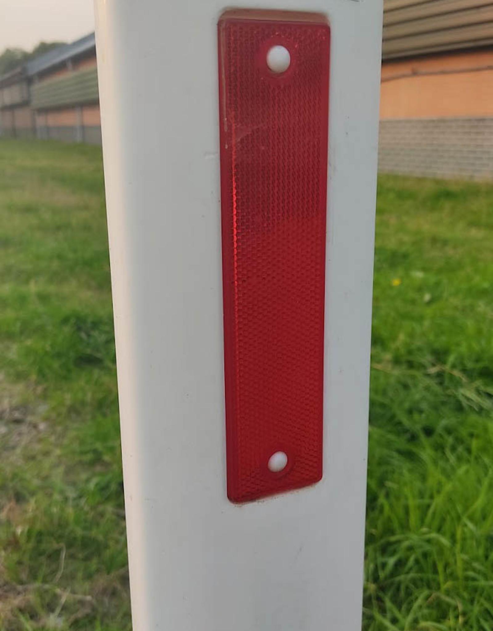 Verkeerswinkel | Harpoenpaal Wit, Bermpaal Wit met 2 reflectoren (rood/wit)