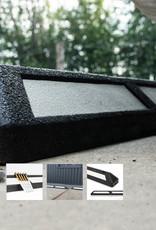 Ri-Traffic | Varkensrug Rubber Zwart, Stootband Wielstopper als Parkeerstop