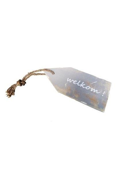door hanger 'welkom'