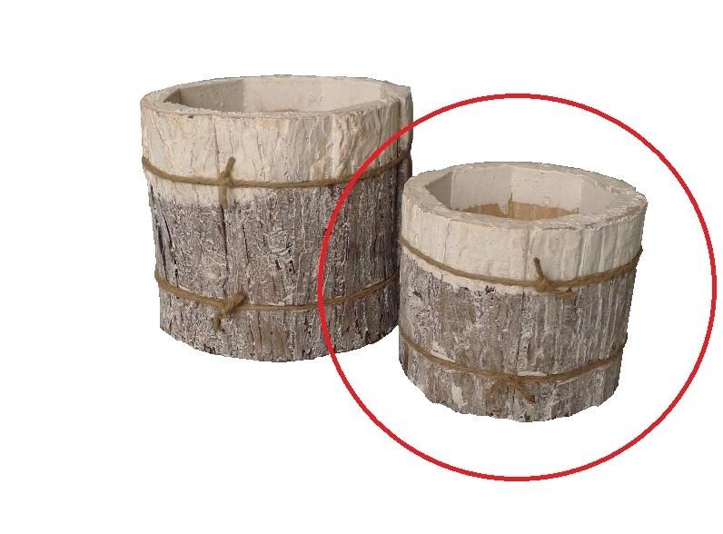 pot bark cyl white 17-3