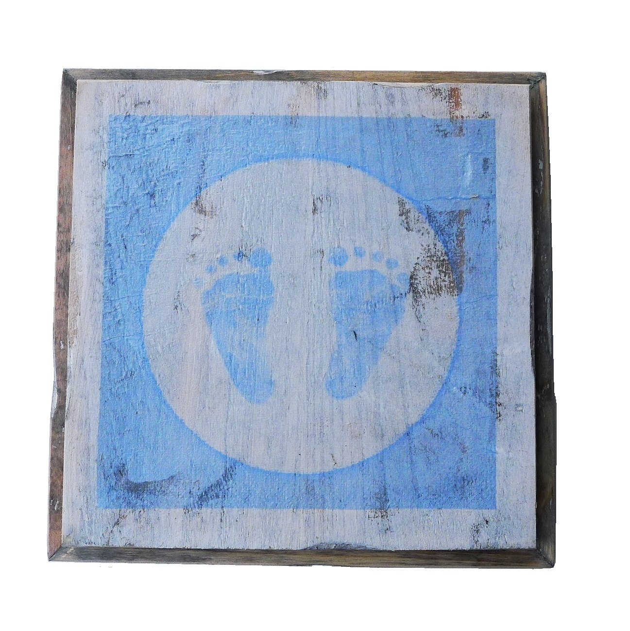 wooden tile old dutch blue feet out-1