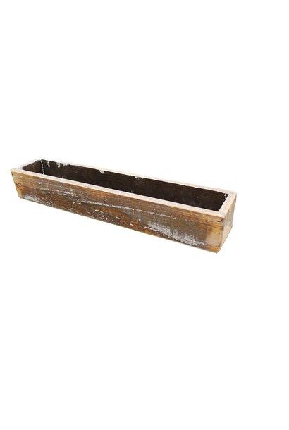 Wooden pot extra long