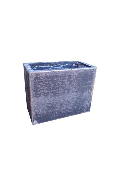 Wooden pot high