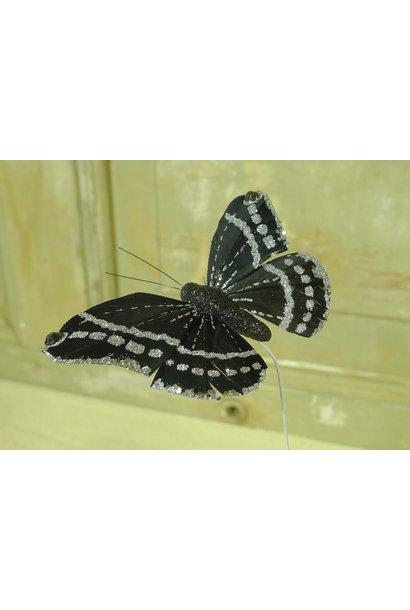 vlinder zwart