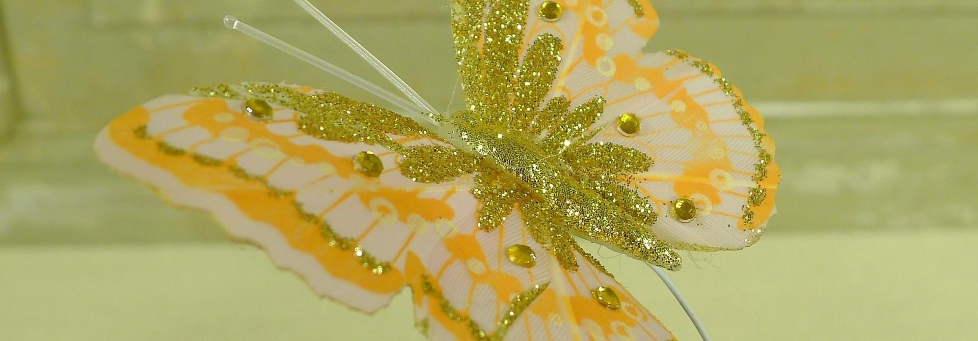 flor dec fabric butterfly 7.5 orange