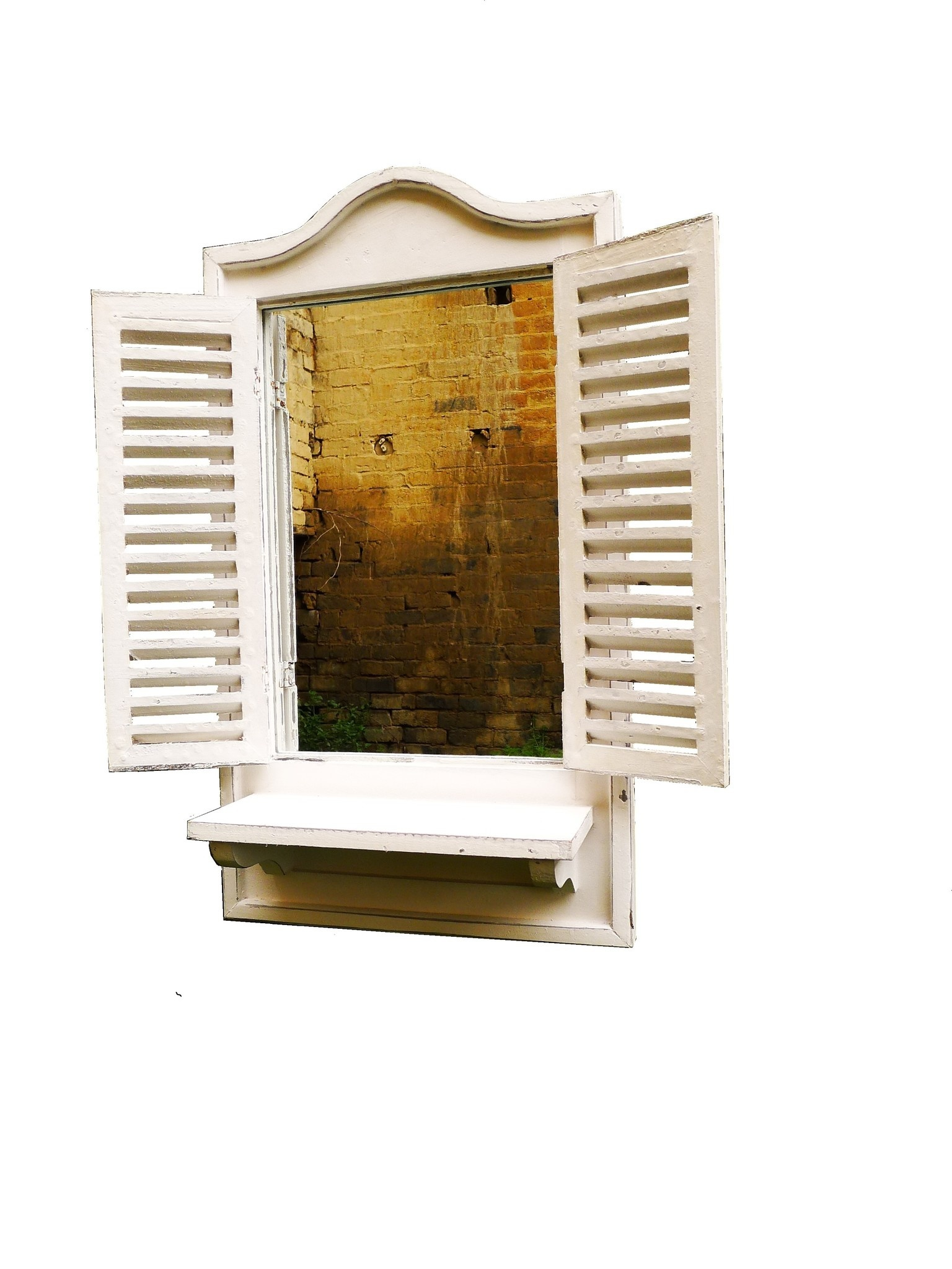 mirror old french cannes ledge white-5