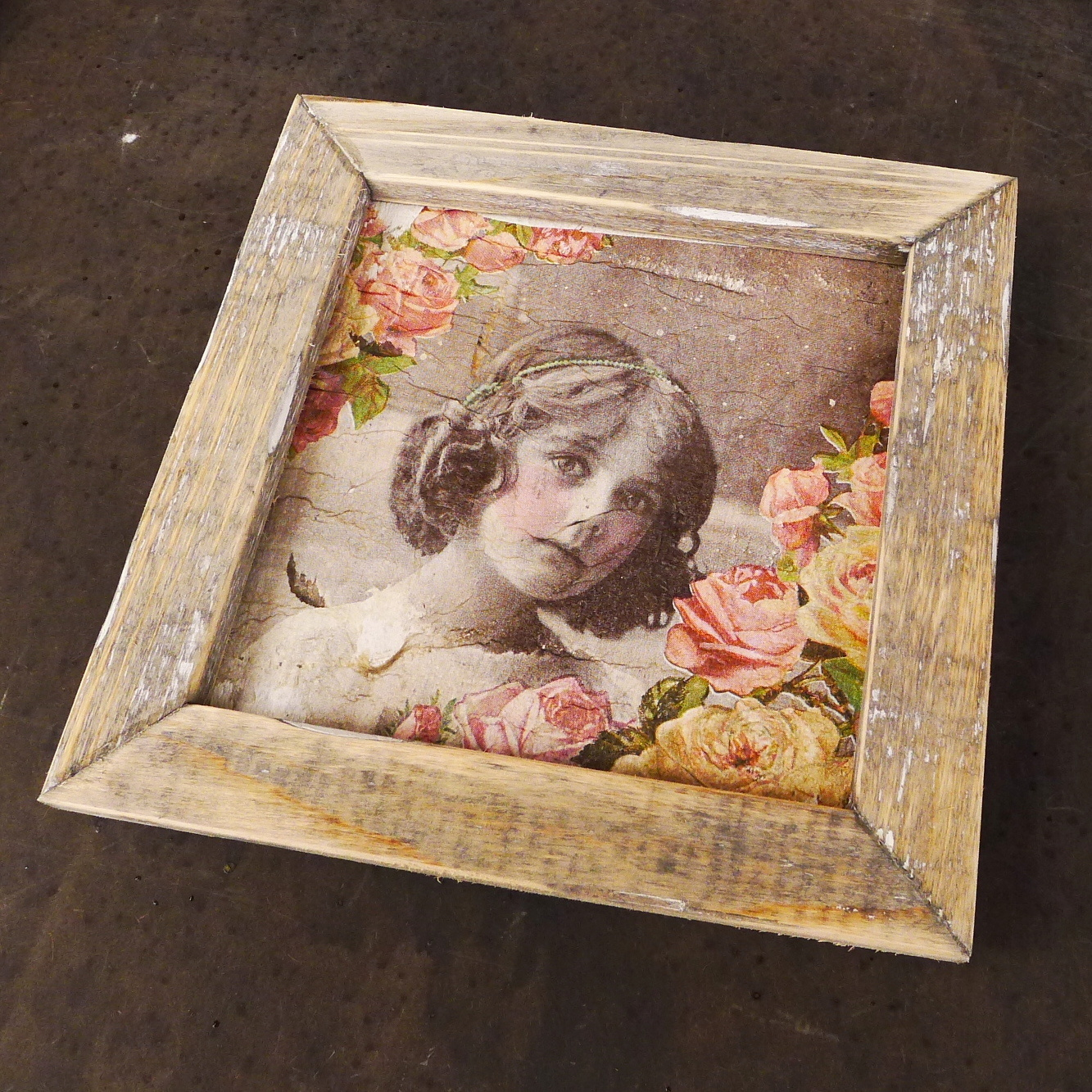 wooden tile old dutch angel blond in-4