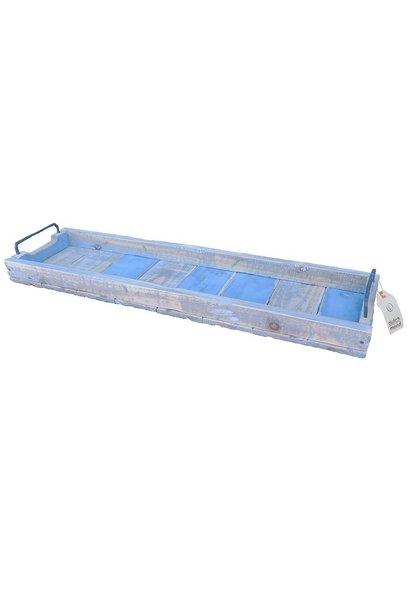 Tablett rechteckig blau