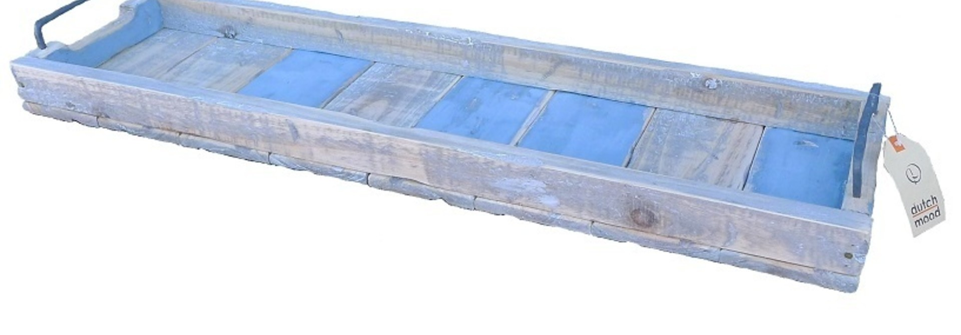 Tablett rechteckig blau - 98/20