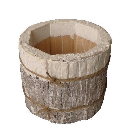 pot bark cyl white 17-10