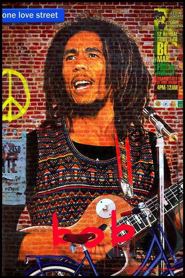 Bob Marley on the Wall
