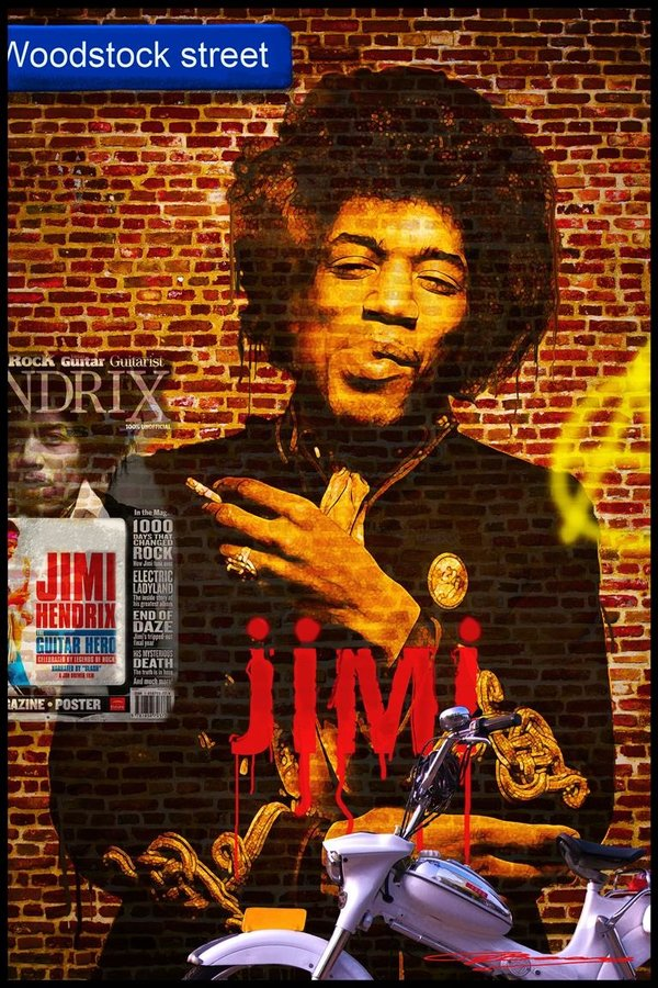 Jimi on the wall