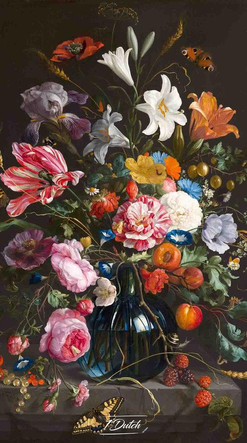 Vaas met bloemen, Jan Davidsz de Heem, c. 1670