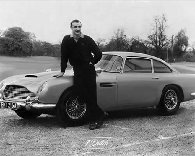 Man with oldtimer