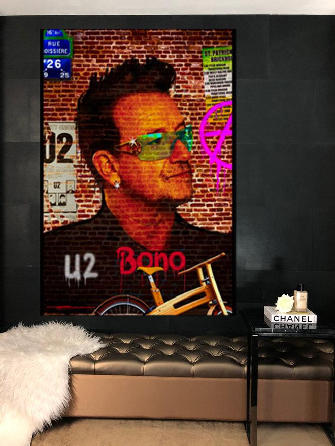 Bono on the wall