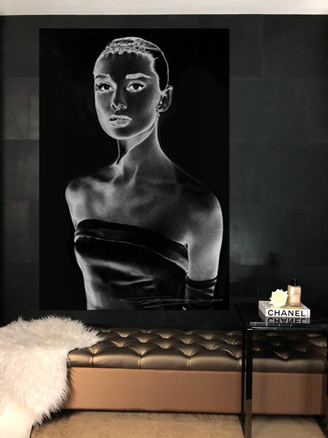 Hepburn Audrey geschilderd