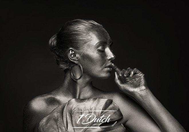 Beautiful woman silver