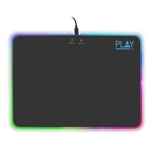 Ewent Ewent PL3341 muismat Zwart Game-muismat met RGB verlichting