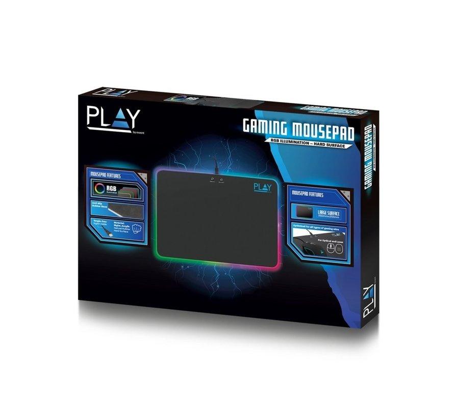 Ewent PL3341 muismat Zwart Game-muismat met RGB verlichting