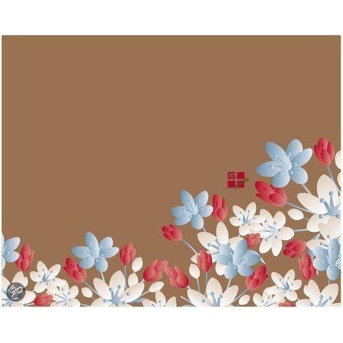 G-Cube Partij 40 stuks Partij 40 stuks Floral Fantasy - Fall - Trim to Fit Glitter Notebook Skin 14'
