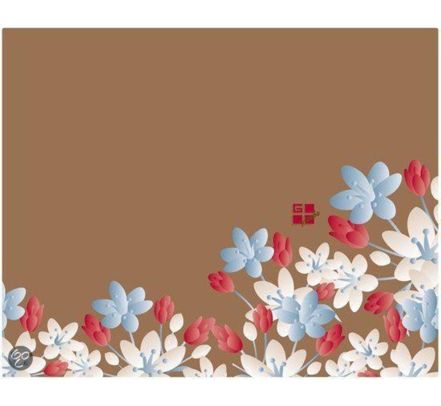 Partij 40 stuks Partij 40 stuks Floral Fantasy - Fall - Trim to Fit Glitter Notebook Skin 14'