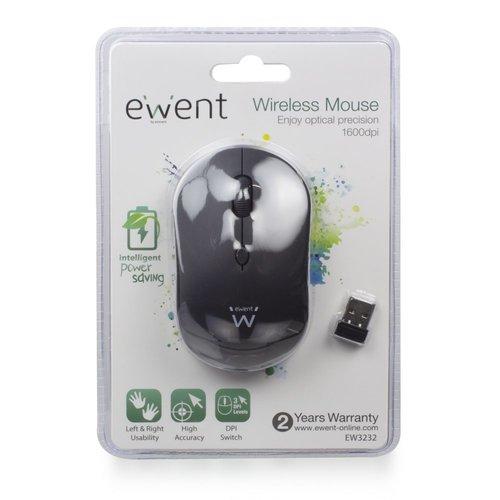 Ewent EW3232 muis RF Draadloos Optisch 1600 DPI Zwart/Rood/Blauw