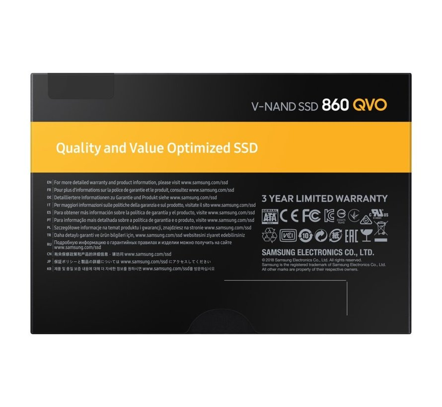 "Samsung 860 QVO 2.5"" 1000 GB SATA III V-NAND MLC"