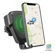 SBS Mobile Luchtventilator Autohouder met GPS / Qi Lader 10W