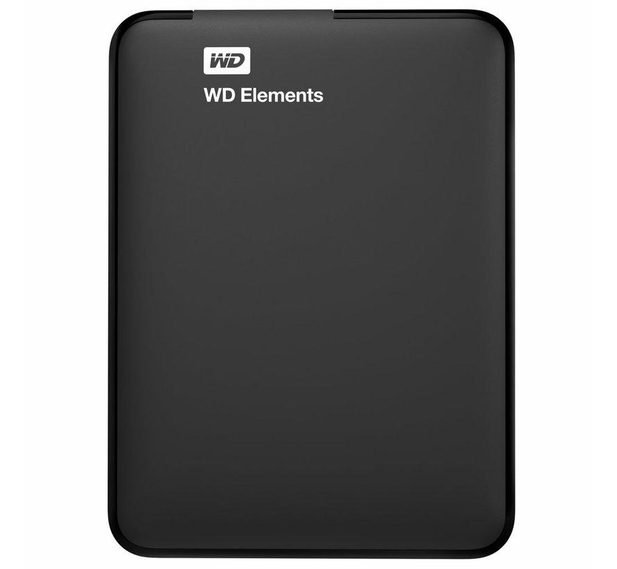 WD Elements Portable 2.5 Inch externe HDD 1TB, Zwart