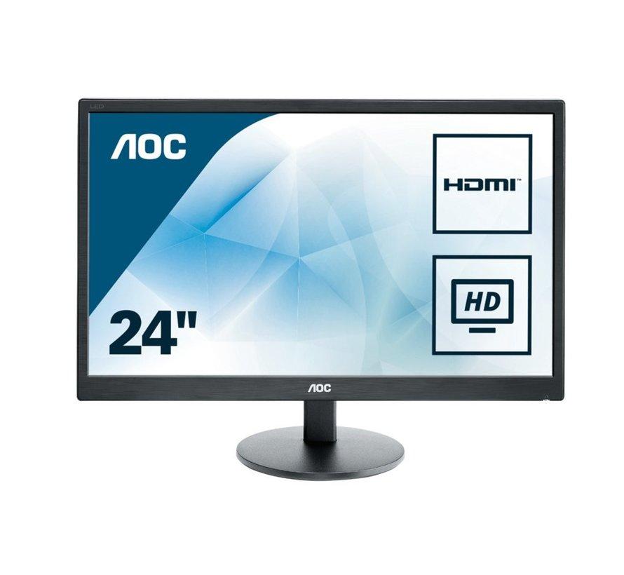 "AOC Value-line E2470SWH LED display 59,9 cm (23.6"") Full HD LCD Flat Mat Zwart"