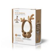 Nedis Bedrade Koptelefoon | 1,2 m Ronde Kabel | On-Ear | Afneembare Magnetische Oren | Max 85dB | Kikker, Konijn of Rendier
