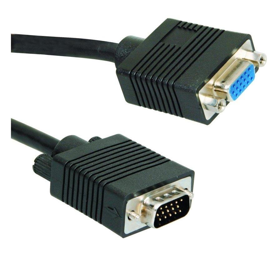 Ewent 1.8m VGA Extention VGA kabel 1,8 m VGA (D-Sub) Zwart