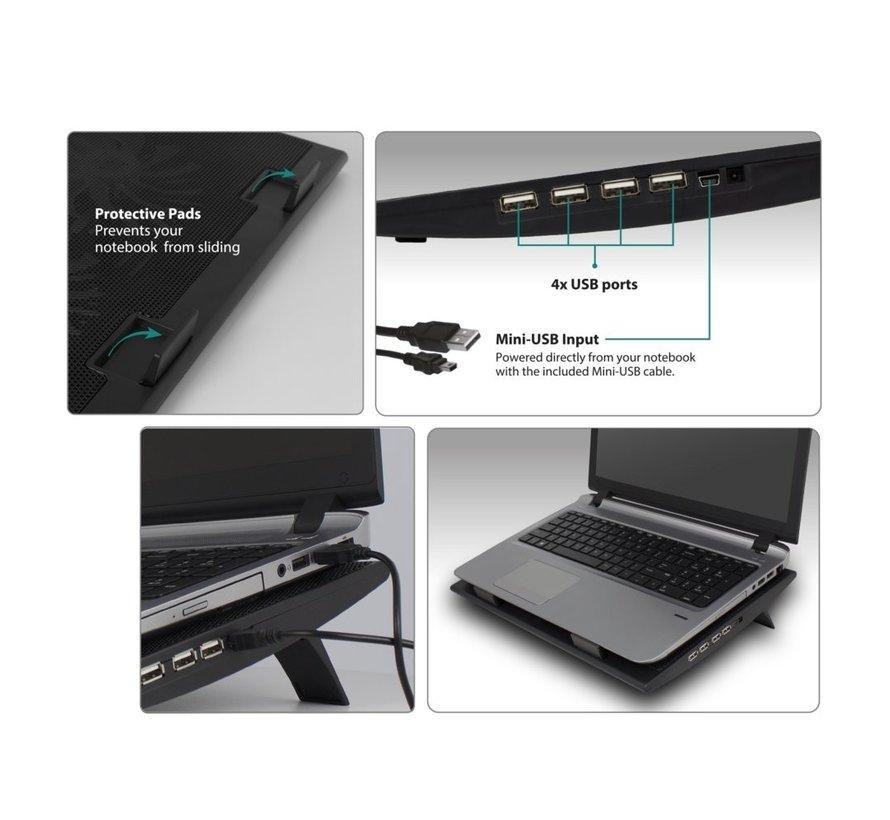 """Ewent EW1253 Notebook koeler standaard tot 17"""""""