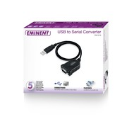 Eminent Ewent EM1016 seriële kabel Zwart 0,6 m USB A RS-232