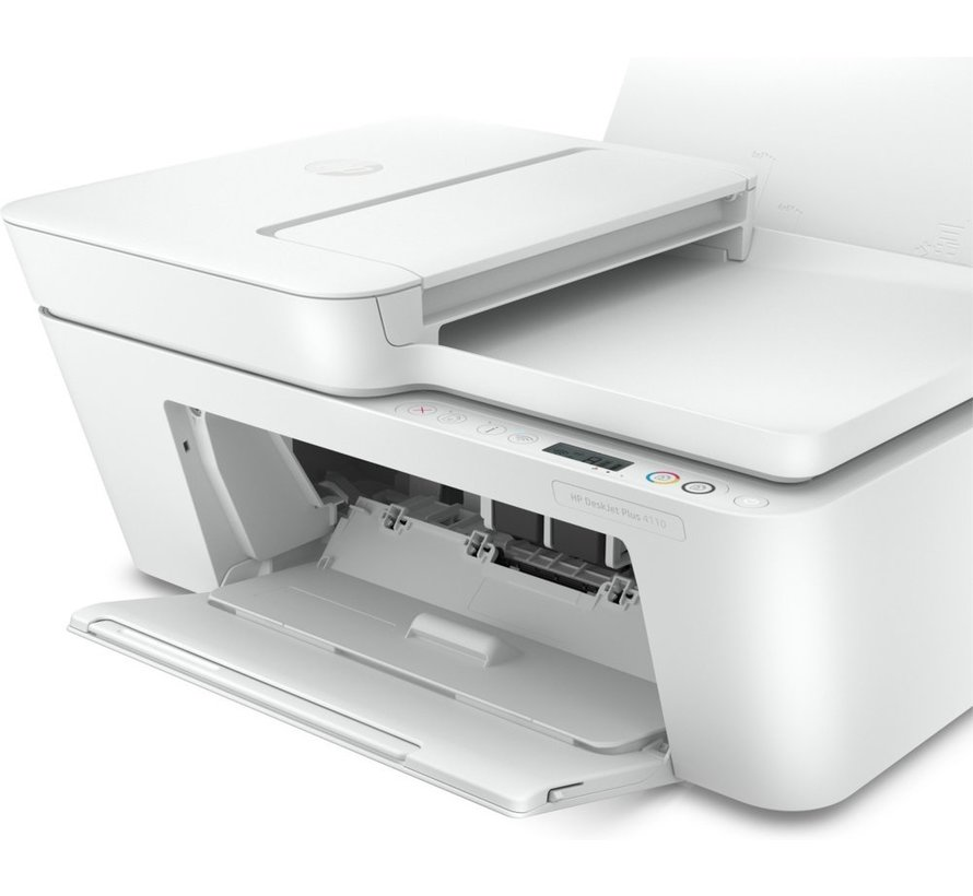HP DeskJet Plus 4110 AIO / WiFi / Auto Doc Invoer / Wit
