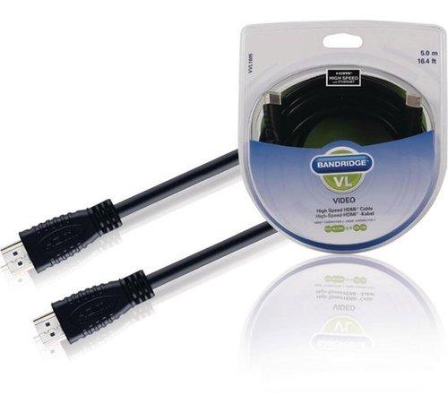 Bandridge Bandridge VVL1005 High Speed HDMI Cable, 5.0m