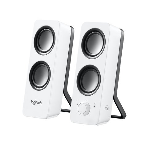 Logitech Z200 luidspreker 10 W Wit Bedraad