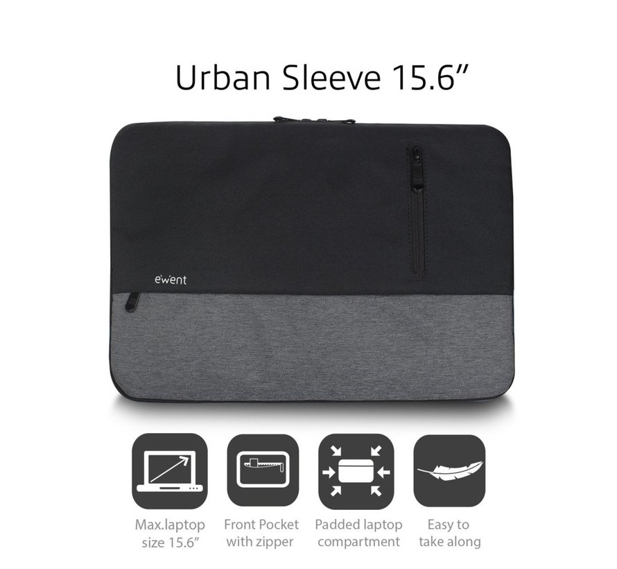 "Urban Sleeve 15.6"", BLACK/GREY"