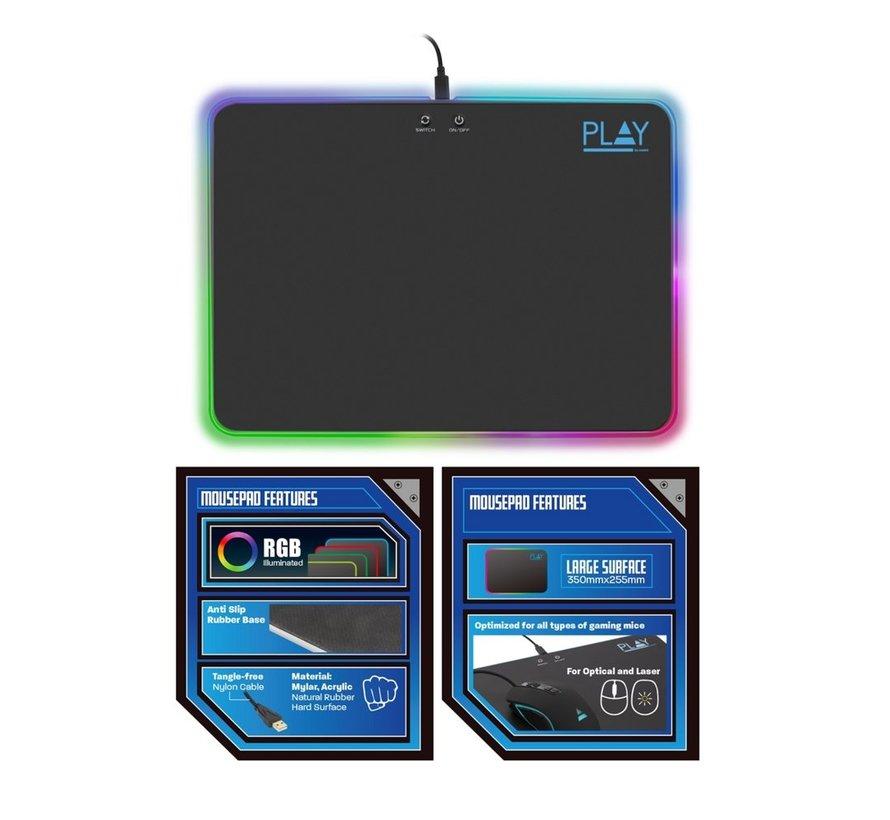 Play Gaming RGB Mouse Pad
