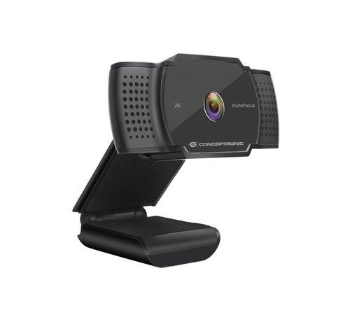 OEM Conceptronic AMDIS 2K Super HD Webcam+Microphone Black