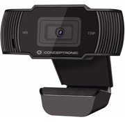 OEM Conceptronic AMDIS 720P HD webcam 1280 x 720 Pixels USB 2.0 Zwart