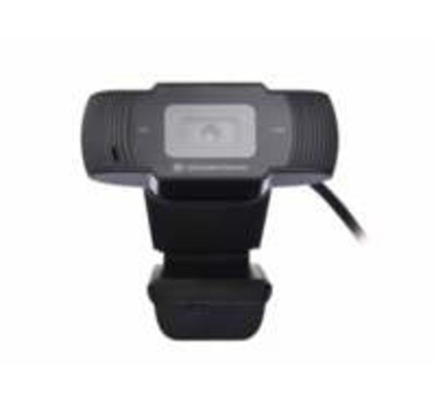 Conceptronic AMDIS 720P HD Webcam + Microphone zwart