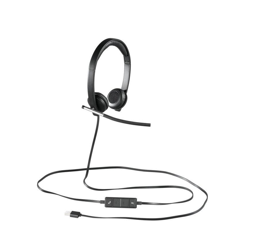 H650E Headset Hoofdband Zwart, Zilver